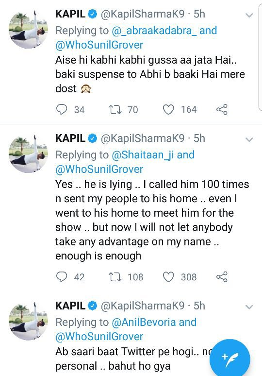 kapil sharma twitter war with sunil grover