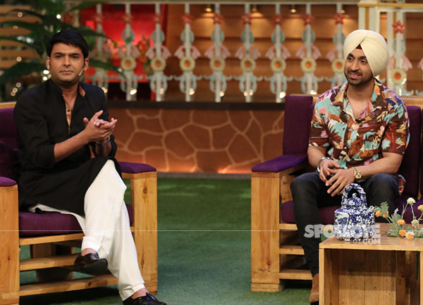 kapil sharma with diljit dosanjh during a recent episode on the kapil sharma show