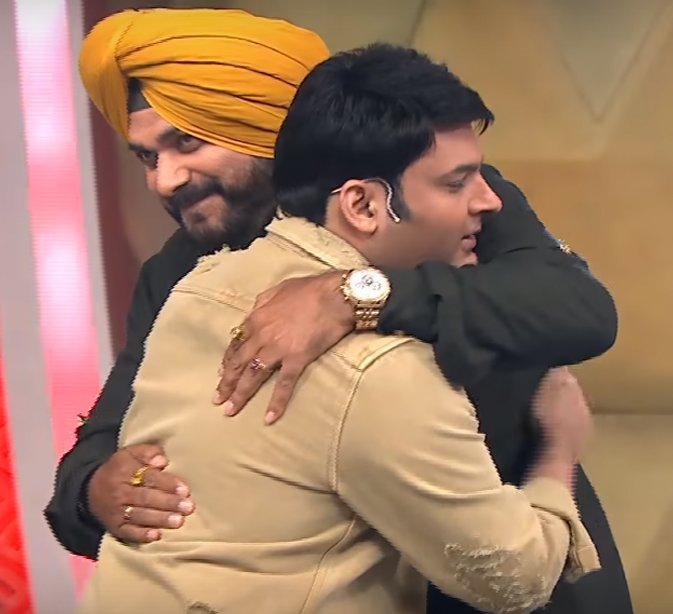 kapil sharma with navjot singh sidhu