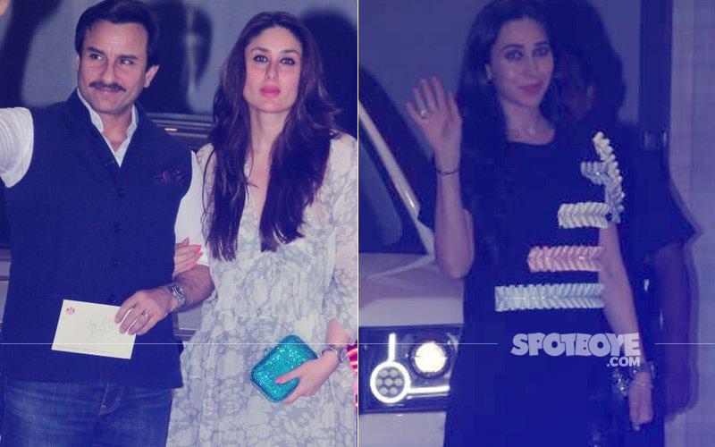 Saif Ali Khan, Kareena Kapoor, Karisma Kapoor Attend Mom Babita's 70TH Birthday Dinner