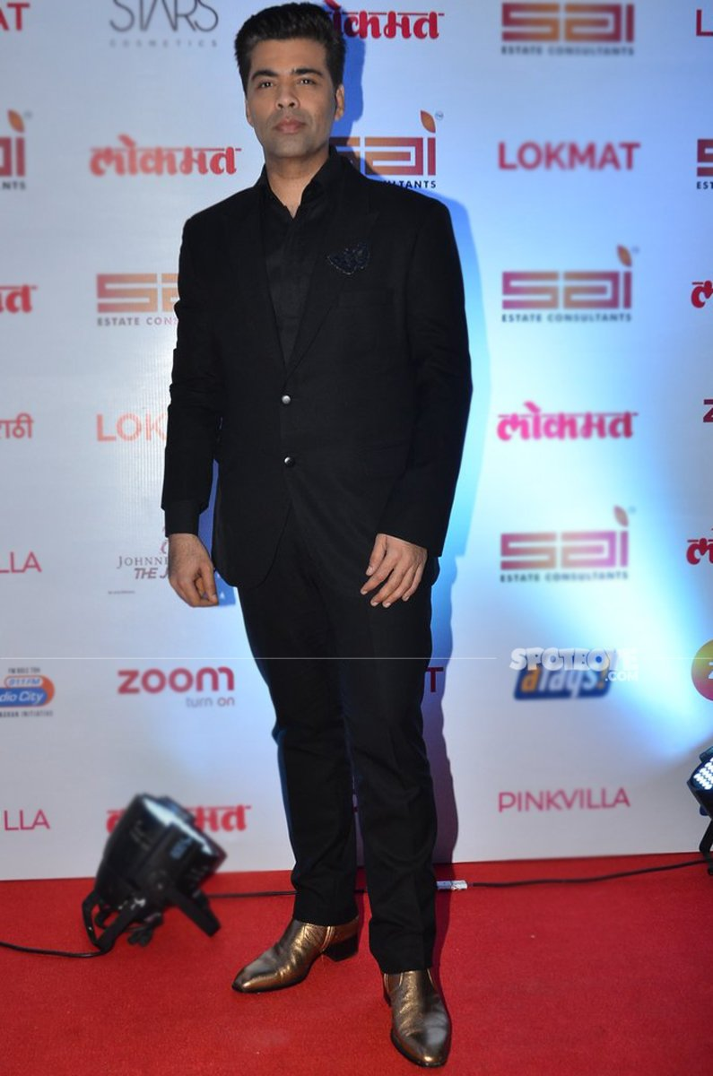 karan johar at lokmat awards