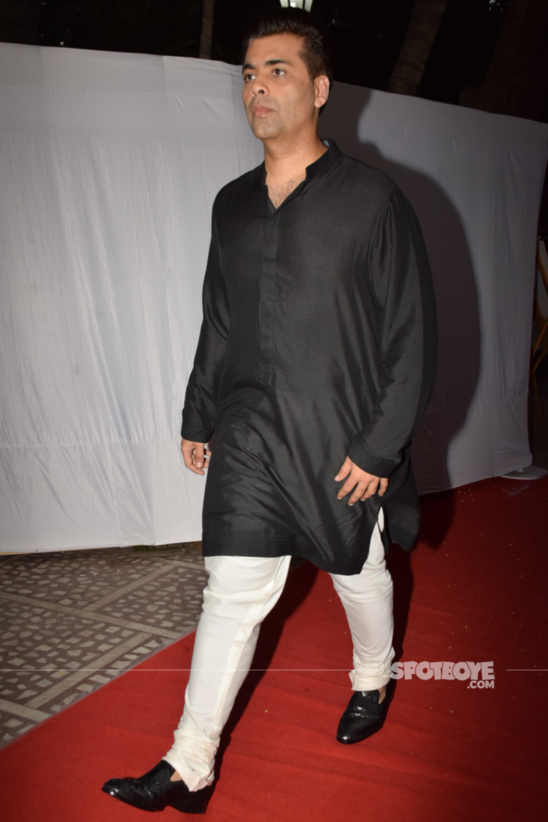 karan johar at ram mukerji prayer meet