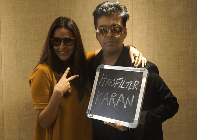 karan johar on no filter neha show