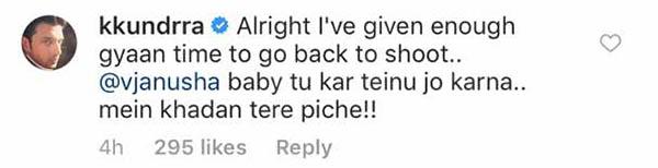 karan kundra supports vj anusha dandekar