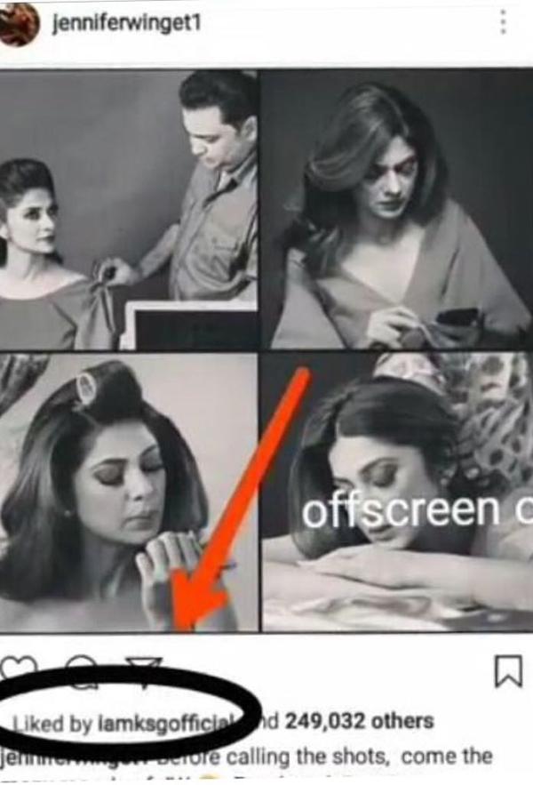 karan singh grover likes ex-wife jennifer winget instagram post