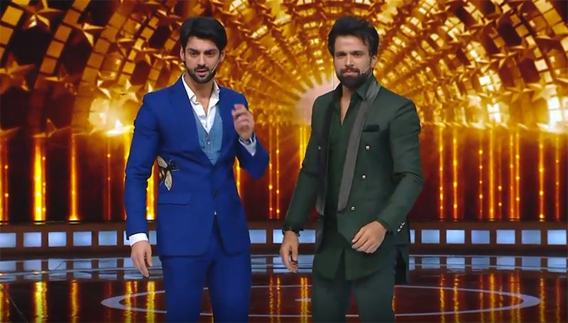 karan wahi and rithvik dhanjani hosts on the show indias next superstar