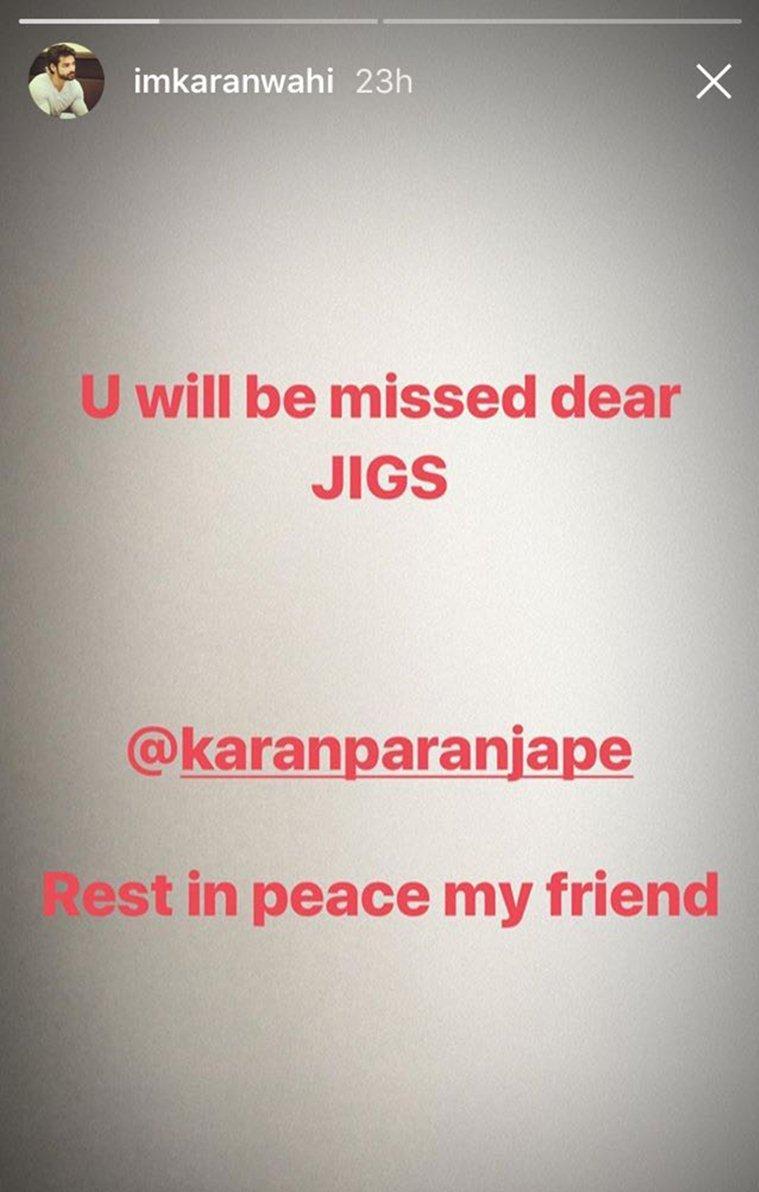 karan wahi instagram story