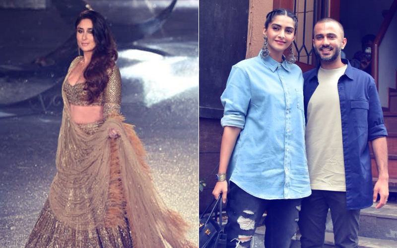 Clicks Of The Day: Kareena Kapoor Takes A Dip In Gold; Sonam Kapoor & Anand Ahuja At Their Store's Puja