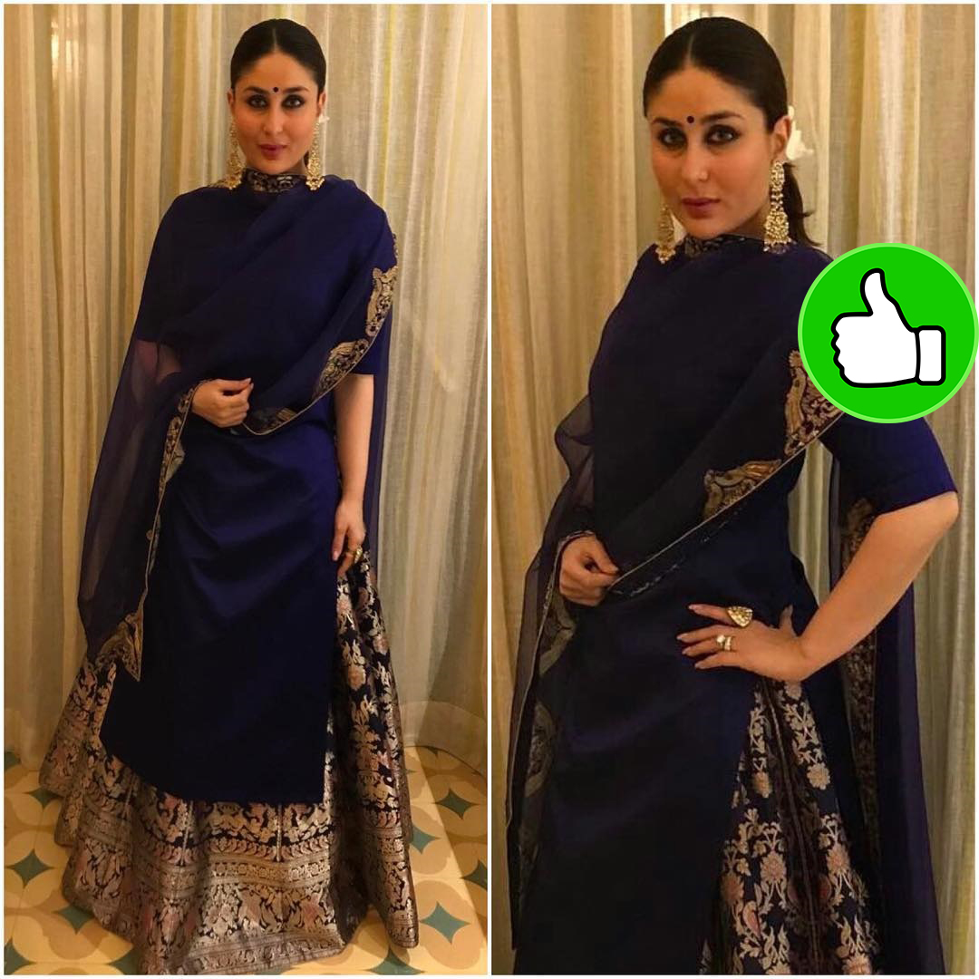 kareena kapoor in blue lehenga