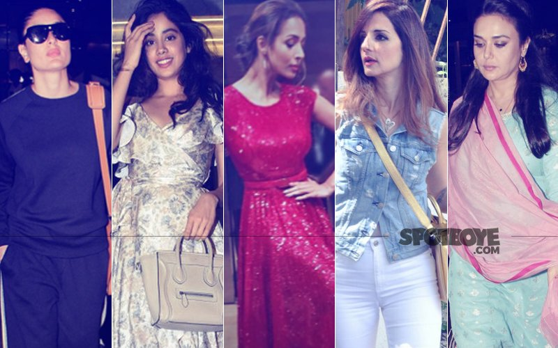 STUNNER OR BUMMER: Kareena Kapoor, Jhanvi Kapoor, Malaika Arora, Sussanne Khan Or Preity Zinta?