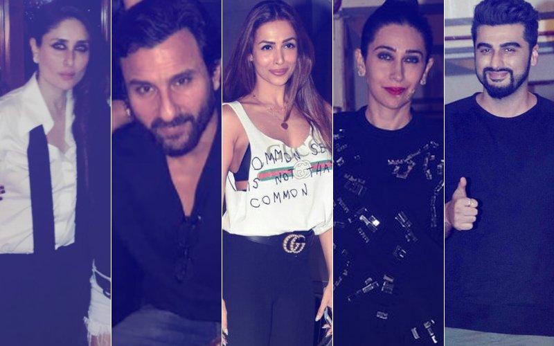 Kareena Kapoor Celebrates Birthday With Saif, Karisma, Malaika, Amrita, Karan & Arjun