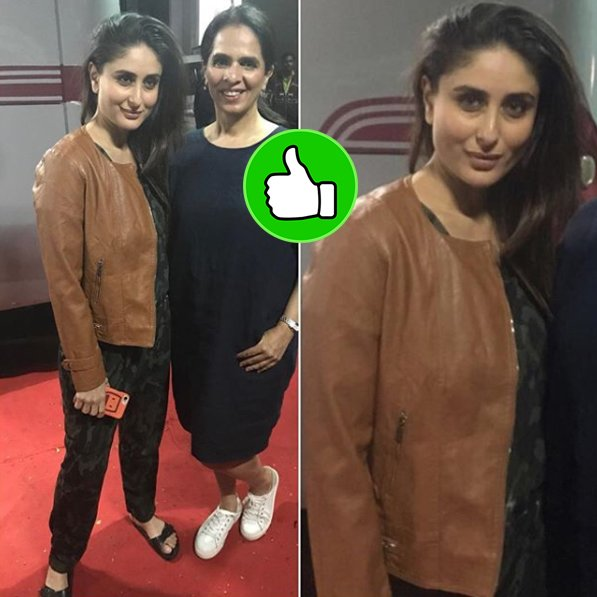 kareena kapoor with a fan