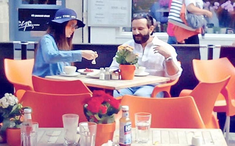 London Vacay: Kareena Kapoor & Saif Ali Khan Spotted At A Restaurant