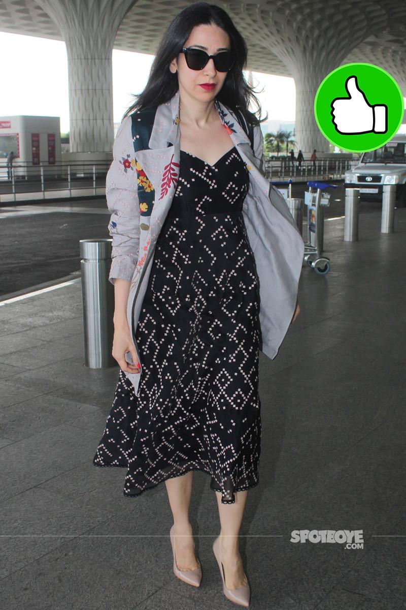 karisma kapoor at the airport