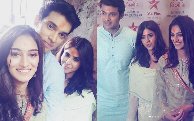 Kasautii Zindagii Kay 2: Erica Fernandes, Parth Samthaan And Ekta Kapoor Seek Blessings At Kalighat In Kolkata
