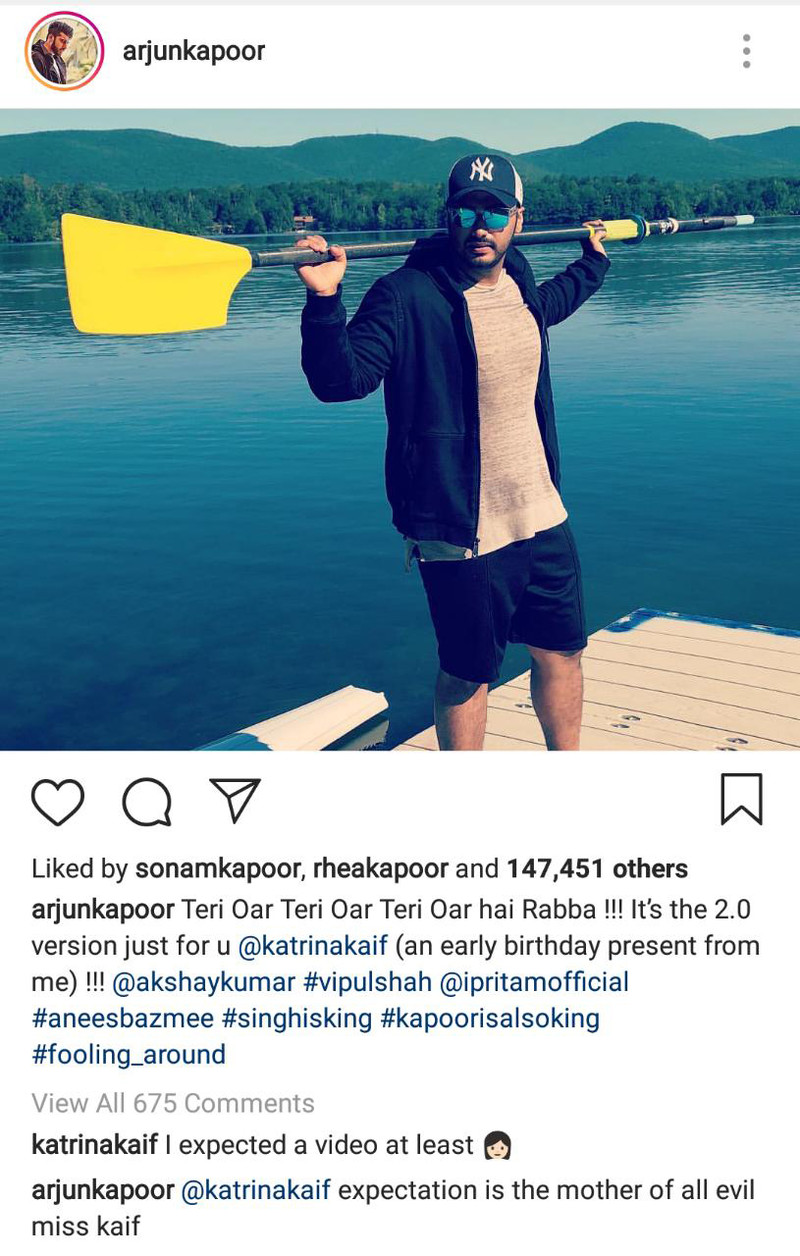 katrina kaif and arjun kapoor instagram conversation
