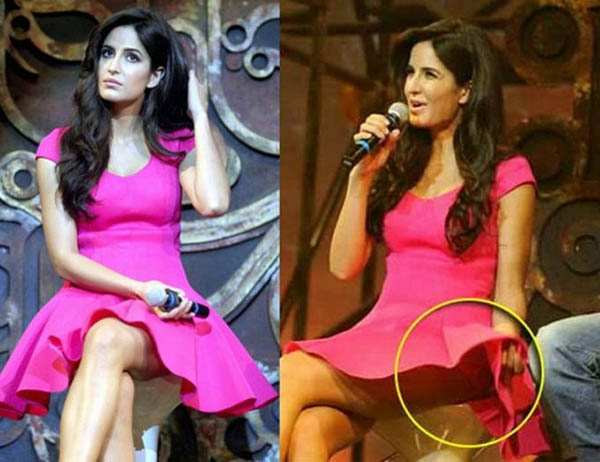 katrina kaif wardrobe malfunction during the promotions of dhoom 3