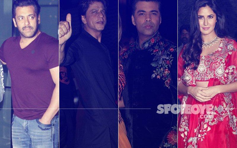 PICS: Salman Khan, Shah Rukh Khan, Karan Johar, Katrina Kaif Party The Night Out At Arpita Sharma's Diwali Bash