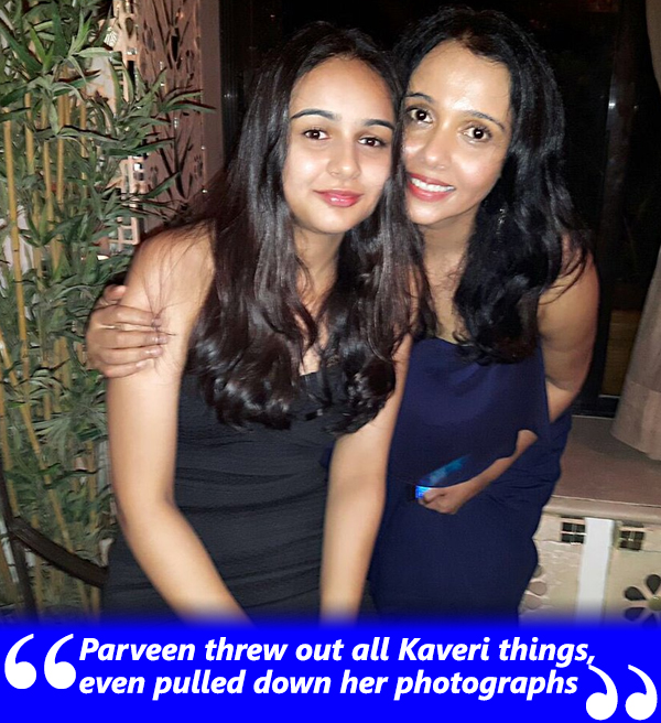 kavita krishnamoorthy with her daughter kaveri