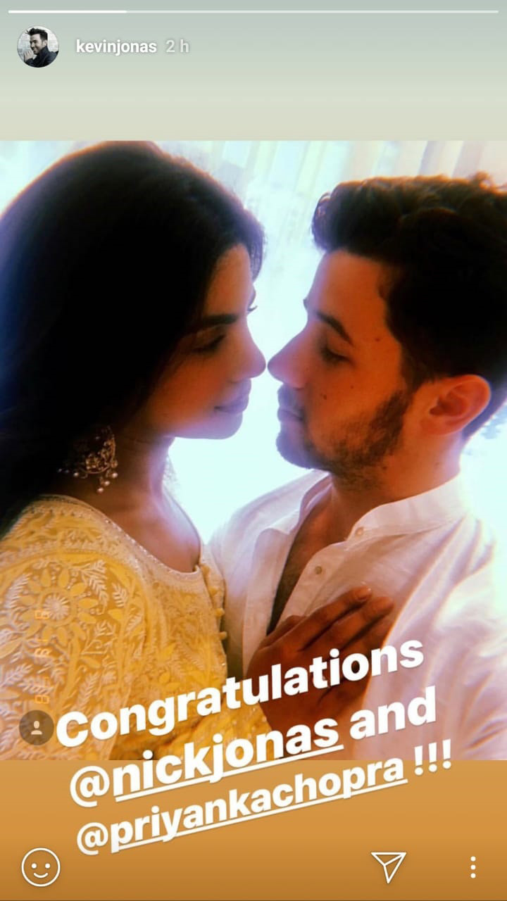 kevin jonas shares a picture of nick and priyanka