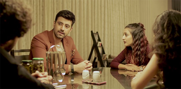 kiran areem kartik and meera in a still from girl in the city 2