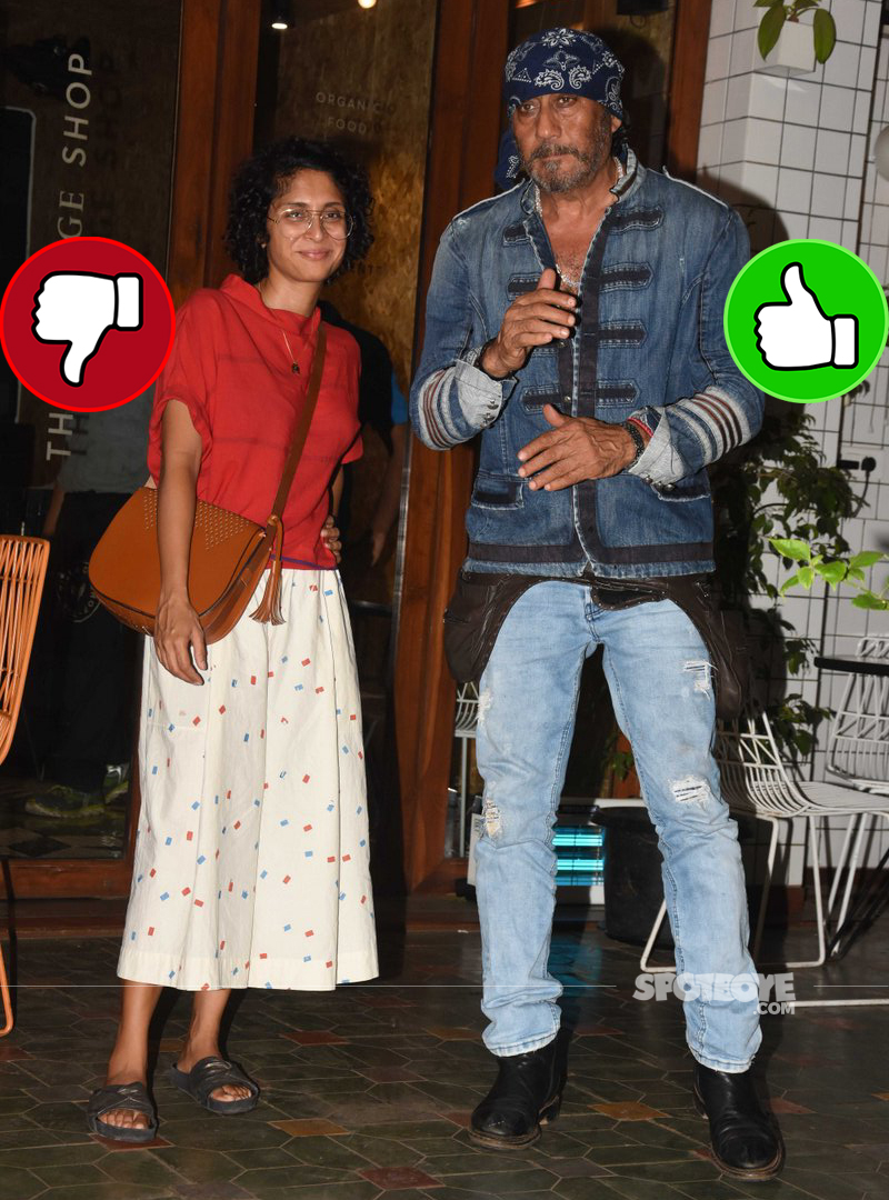 kiran rao jackie shroff at village shop