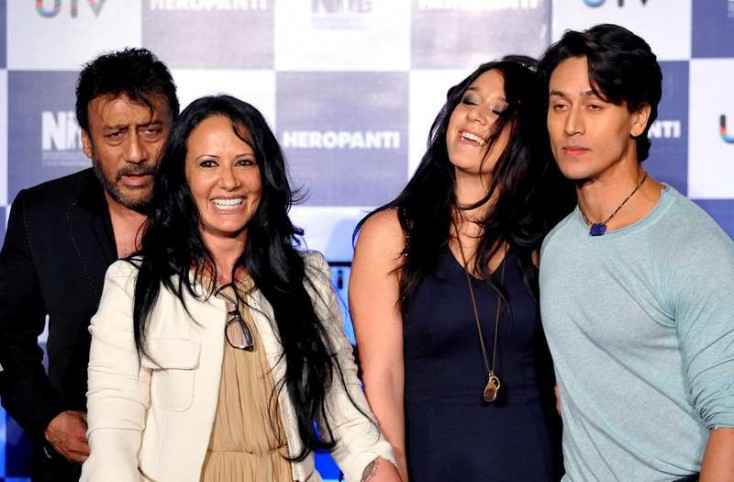krishna shroff with family