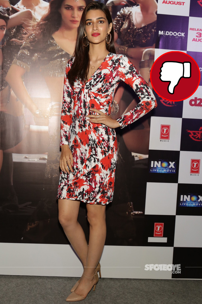 kriti sanon snapped at the song launch of kabhi haveli pe aao