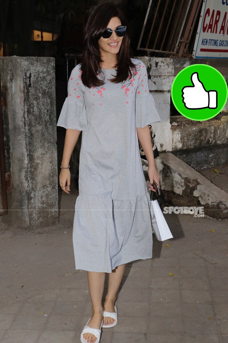 kriti sanon snapped post spa session