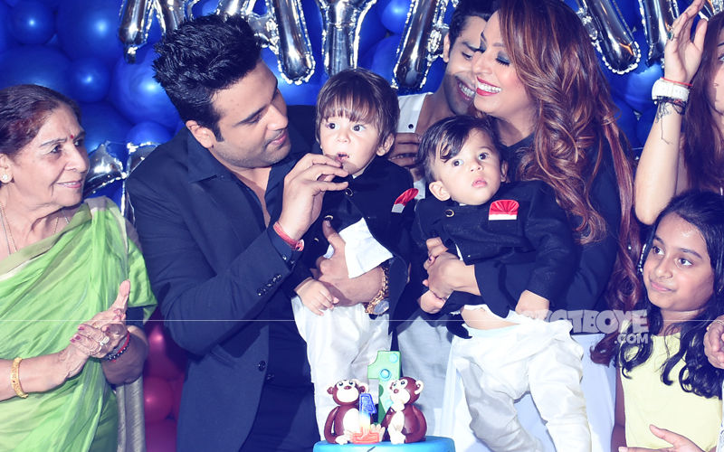 Inside Videos: Krushna Abhishek & Kashmera Shah Celebrate Twins' 1st Birthday