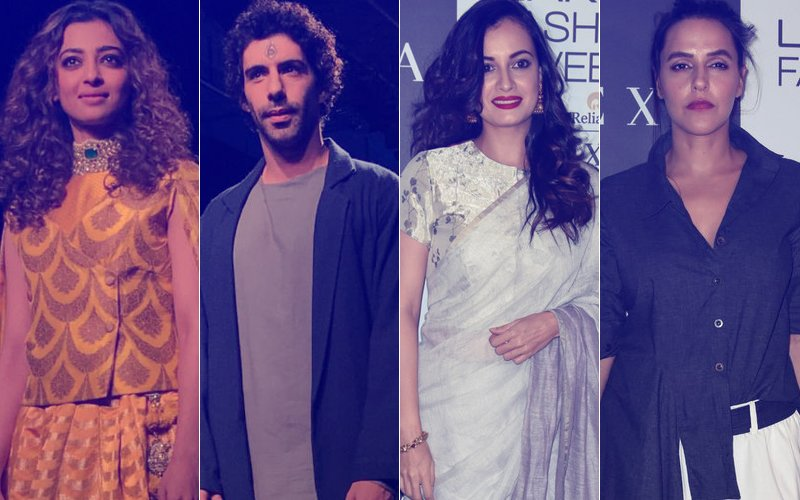 LAKME FASHION WEEK 2017, Day 2: Radhika Apte, Jim Sarbh, Dia Mirza, Neha Dhupia Slay It On The Ramp