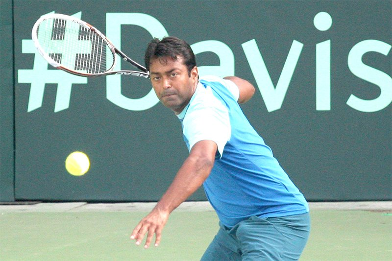 leander paes in action