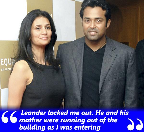 leander pais and rhea pillai in happier times