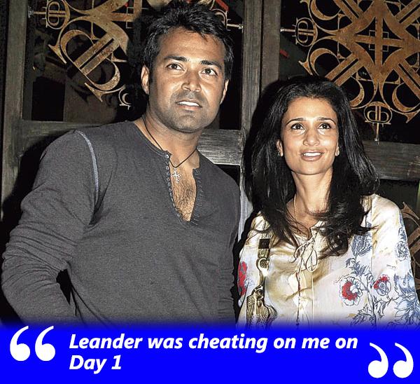 leander pais was cheating on rhea pillai