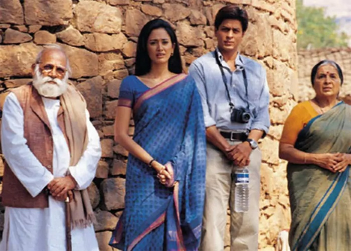 lekh tandon and shah rukh khan in swades