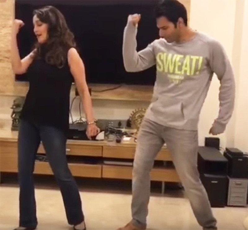madhuri dixit and varun dhawan will groove to tamma tamma