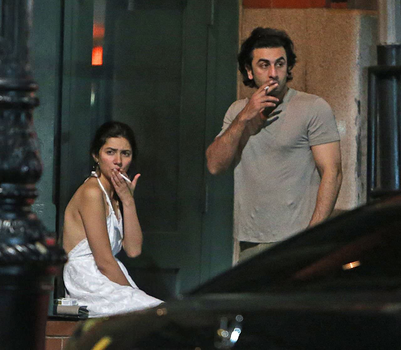 mahira khan and ranbir kapoor smoking