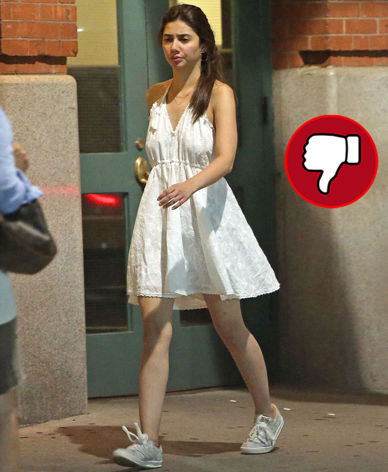 mahira khan in a white short dress