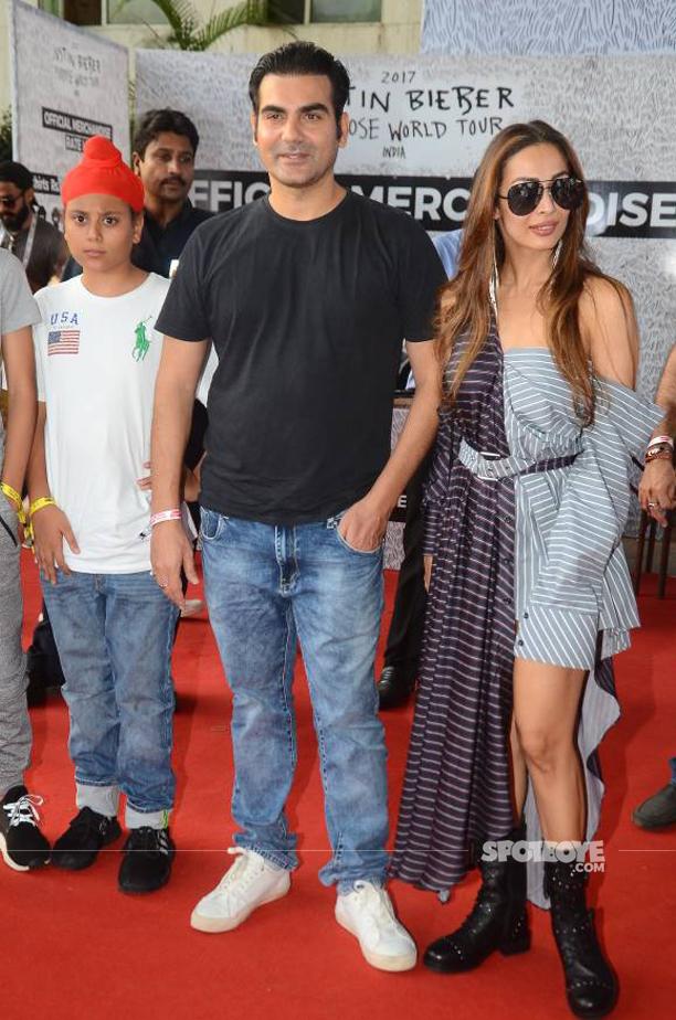 malaika arora and arbaaz khan justin bieber purpose india tour