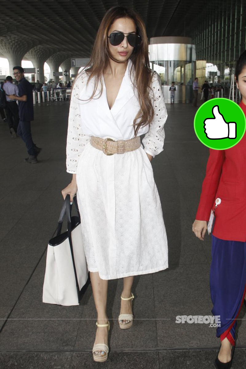 malaika arora at mumbai airport