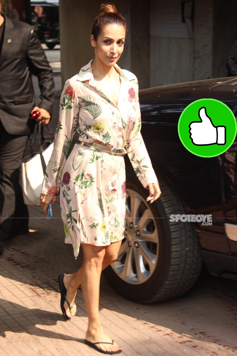 malaika arora spotted after an ad shoot