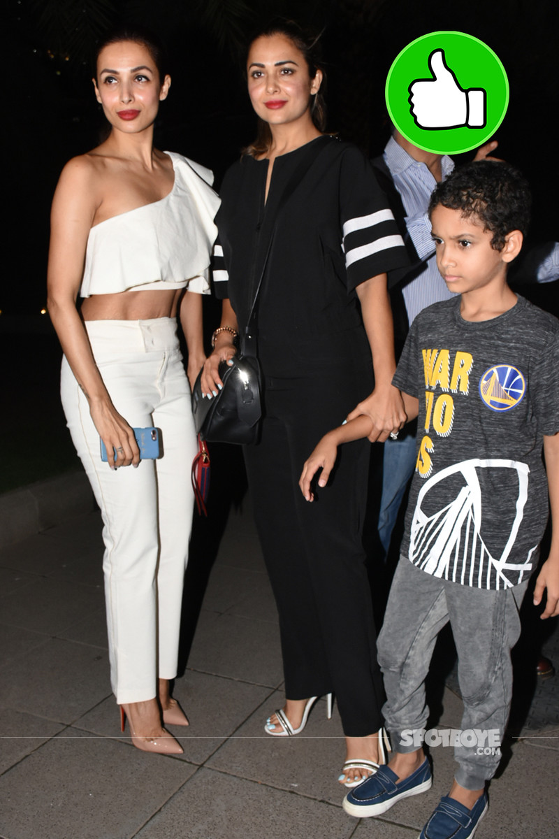 malaika arora with sister amrita snapped post dinner