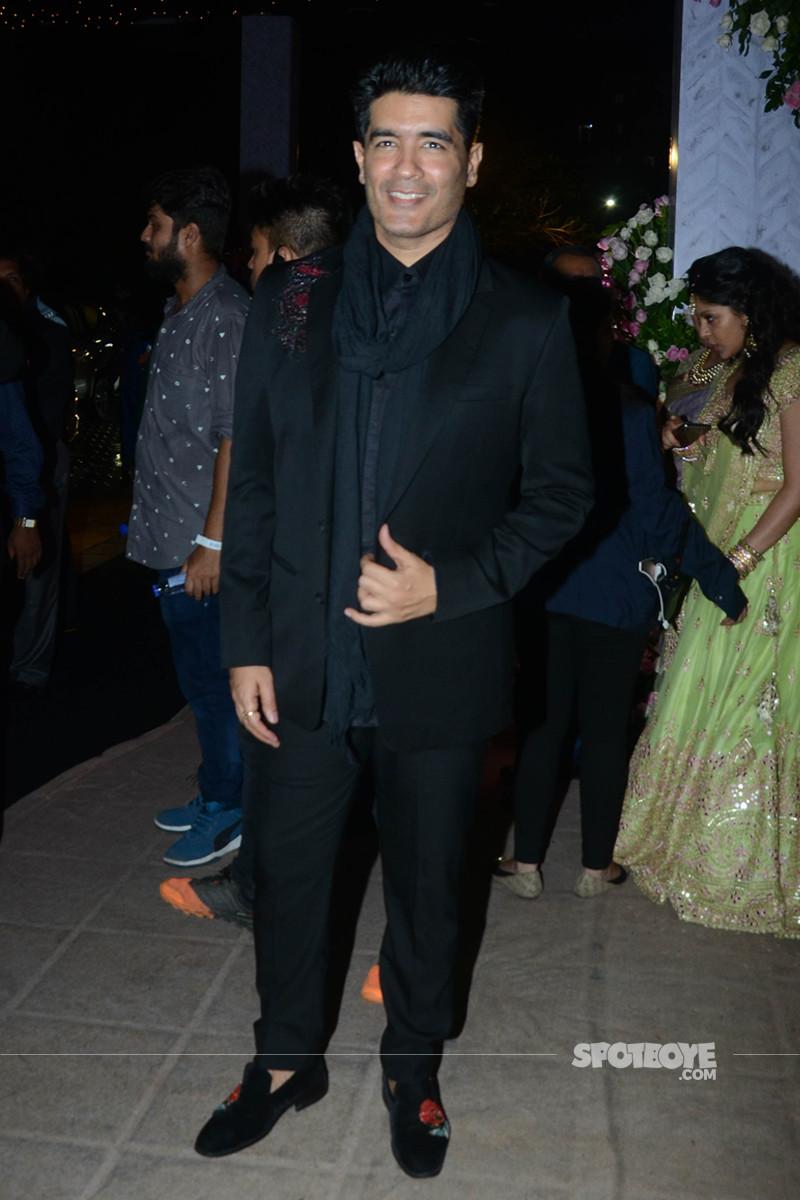manish malhotra at poorna patel reception