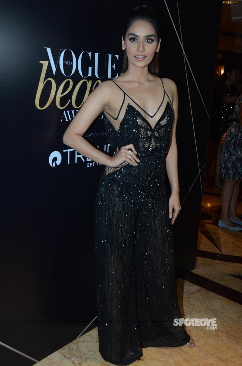 manushi chhillar at vogue beauty awards 2018