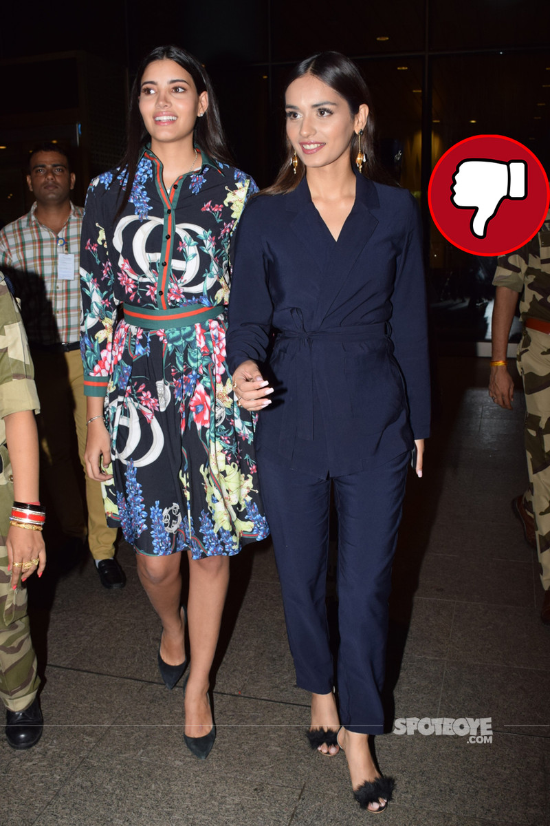 manushi chillar snapped at airport