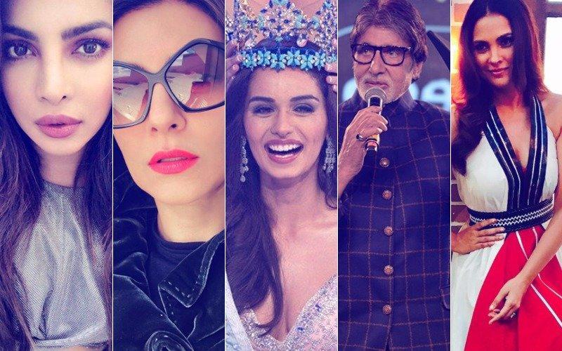 Priyanka Chopra, Sushmita Sen, Lara Dutta, Amitabh Bachchan Shower Ecstatic Over Manushi Chhillar's Miss World 2017 Victory