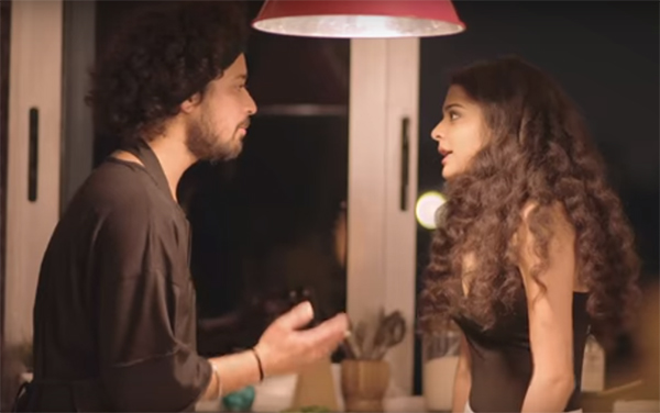 meera and kartik arguing in a still from girl in the city 2