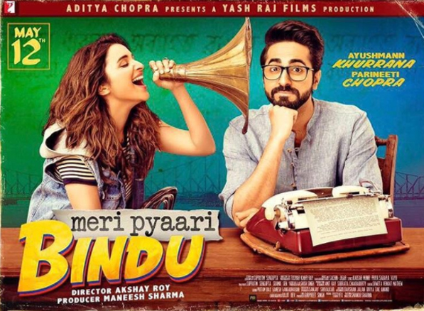 meri pyaari bindu poster parineeti and ayushmann