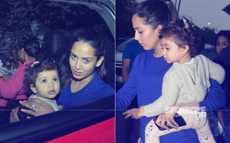 Mira Rajput Takes Her Little Munchkin Misha Kapoor For A Spin In Bandra