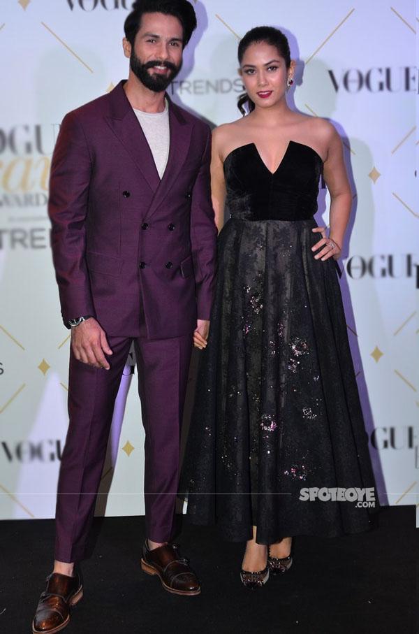 mira rajput and shahid kapoor at vogue beauty awards 2017